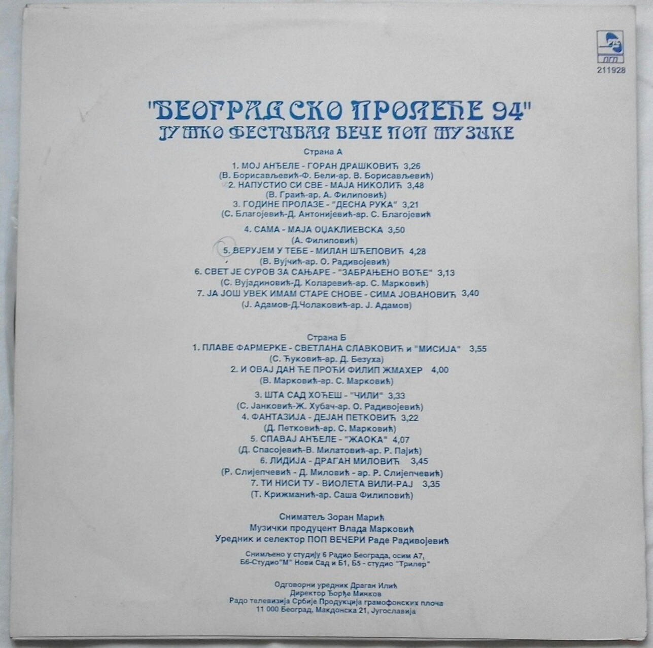 BEOGRADSKO PROLECE 1994 b