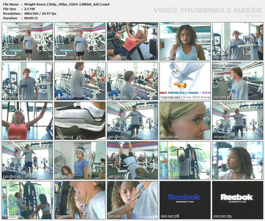 Weight Room 360 p 30 fps H 264 128 kbit AAC mp 4