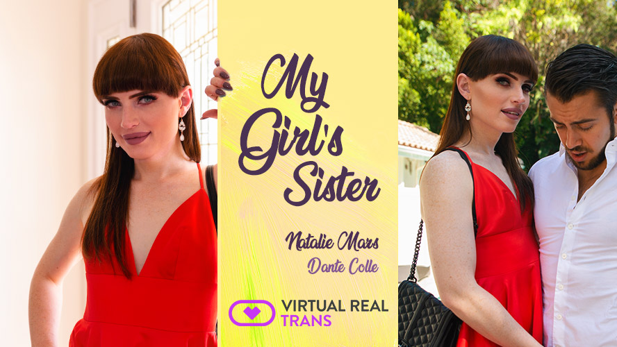 [VirtualRealTrans.com] Natalie Mars (My Girl s Sister) [2018, POV, Shemale, Girlfriend, CowGirl, Hardcore, Blowjob, Anal, Bareback, Brunette, Natural Tits, Red Dress, Virtual Reality, 3D, QHD, Gear VR, 2048p]