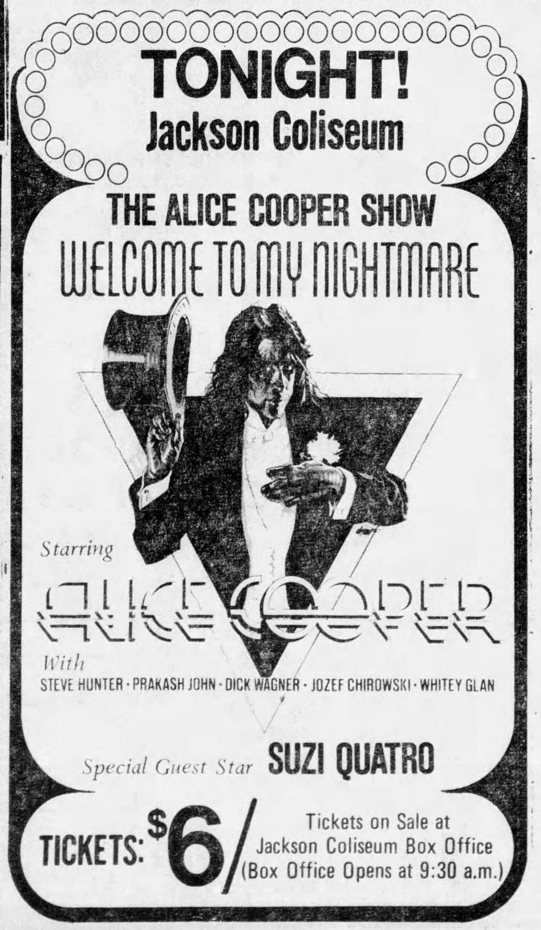 1975 06 06 Clarion Ledger Show Advert