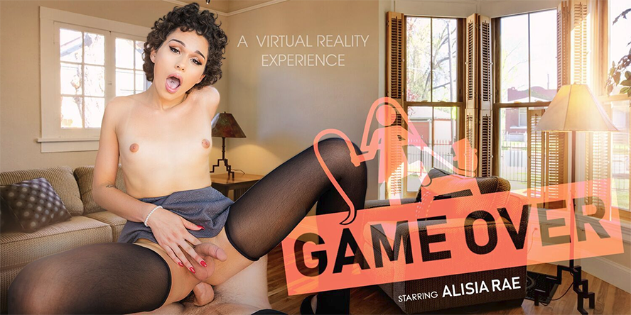 [VRBTrans.com] Alisia Rae (Game Over / 06.09.2018) [Shemale, Anal, Hardcore, Bareback, Brunette, BlowJob, CowGirl, Virtual Reality, VR, 3d, 1920p, HDRip]